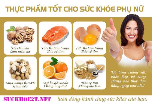 top thực phẩm tốt cho sức khỏe phụ nữ