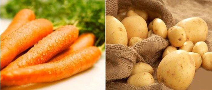 mặt-nạ-khoai-tây-và-cà-rốt-trị-nám