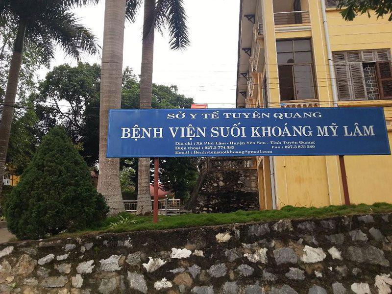 DANH SÁCH CÁC BỆNH VIỆN TẠI TỈNH TUYÊN QUANG Bệnh viện Điều dưỡng Suối Khoáng Mỹ Lâm
