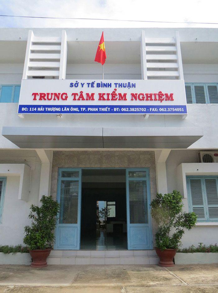 Trung tâm Kiểm nghiệm dựợc phẩm-Mỹ phẩm tỉnh Bình Thuận