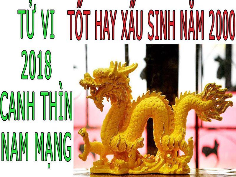 TỬ VI 2018 TUỔI CANH THÌN 2000 - NAM MẠNG