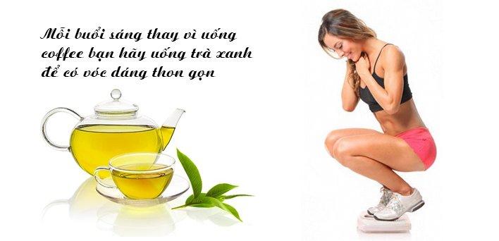 Uống trà xanh giảm cân tốt cho sức khỏe
