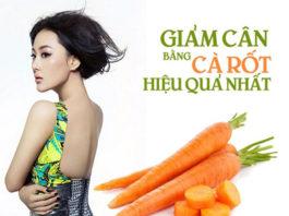 cà rốt giúp bạn giảm cân hiệu quả