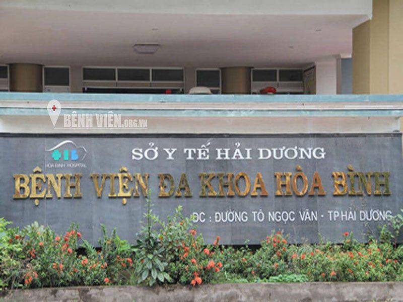 DANH SÁCH CÁC BỆNH VIỆN TẠI TỈNH HẢI DƯƠNG Bệnh viện Hòa Bình