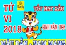 TỬ VI 2018 TUỔI MẬU DẦN 1998 - NAM MẠNG
