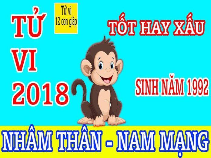 TỬ VI 2018 TUỔI NHÂM THÂN 1992 - NAM MẠNG
