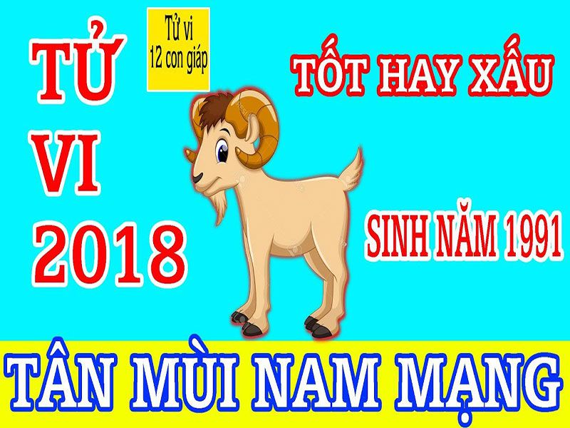 Tử Vi 2018 Tuổi Tân Mùi 1991 - Nam Mạng