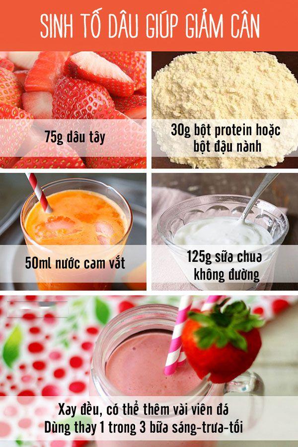 Công thức sinh tố giảm cân đơn giản cho bạn
