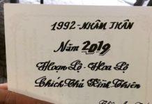 TỬ VI TUỔINHÂM THÂN 1992 NĂM 2019