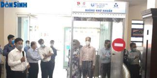 Buồng khử khuẩn toàn thân được giới thiệu tại Thành đoàn TP. Hồ Chí Minh.