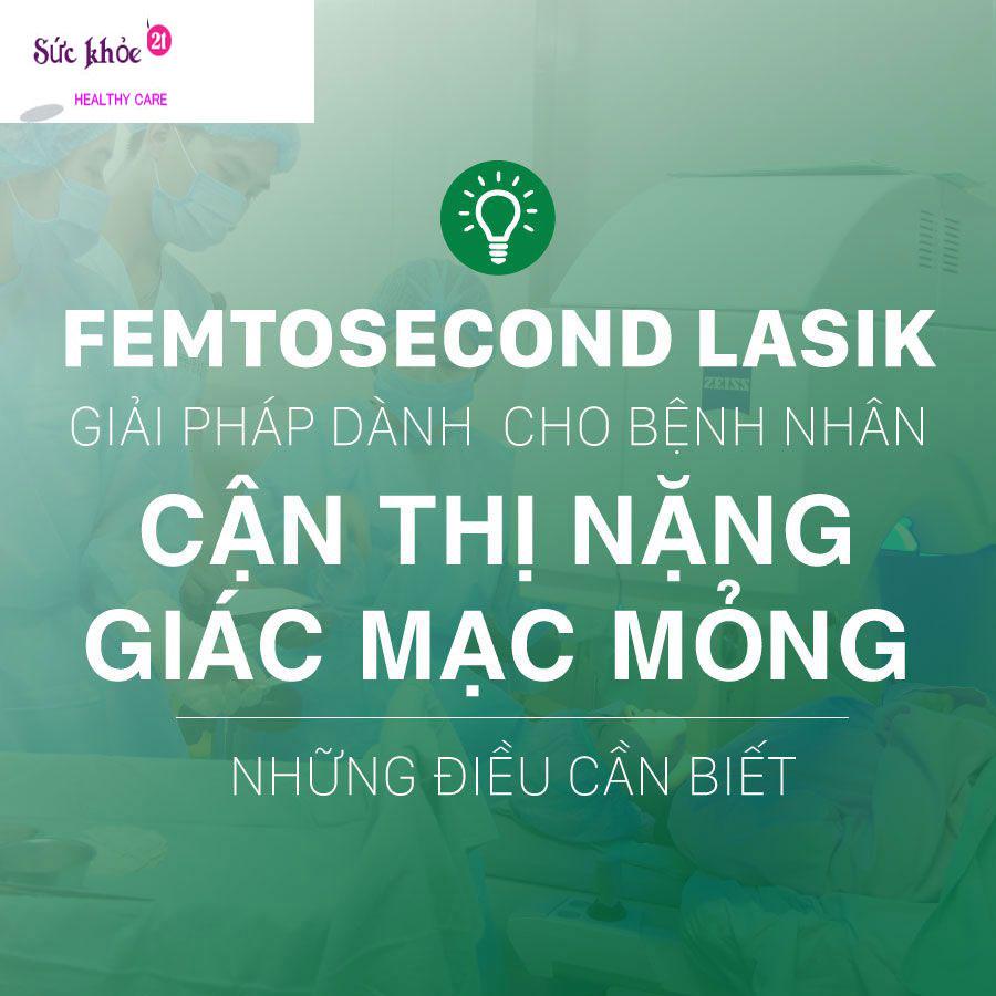 Phẫu thuật Femto LASIK nhanh chóng – an toàn – không đau